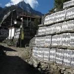 One of thousands of Mani (prayer) walls - Om Mani Padme Hum!