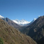 Porter on Himalaya mountain path