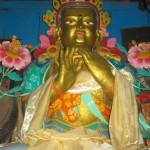 Gold Buddha inside Kumjung Gomba temple