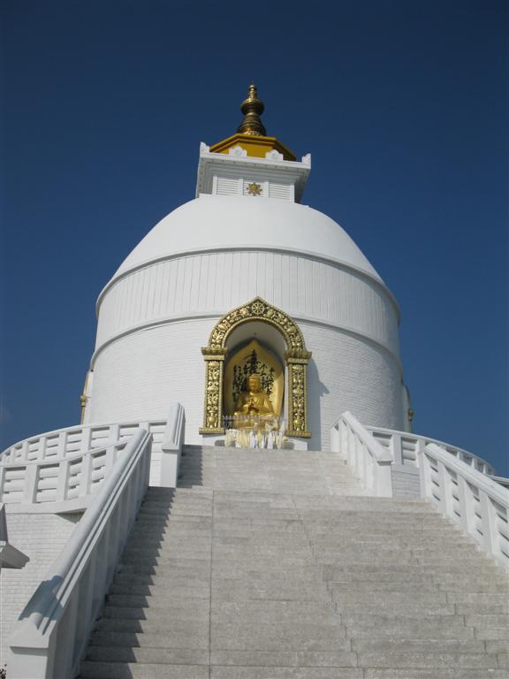 Buddhist Stupa above Pokhara
